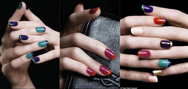 nail-trends-Two-Colors-French-Manicure-2