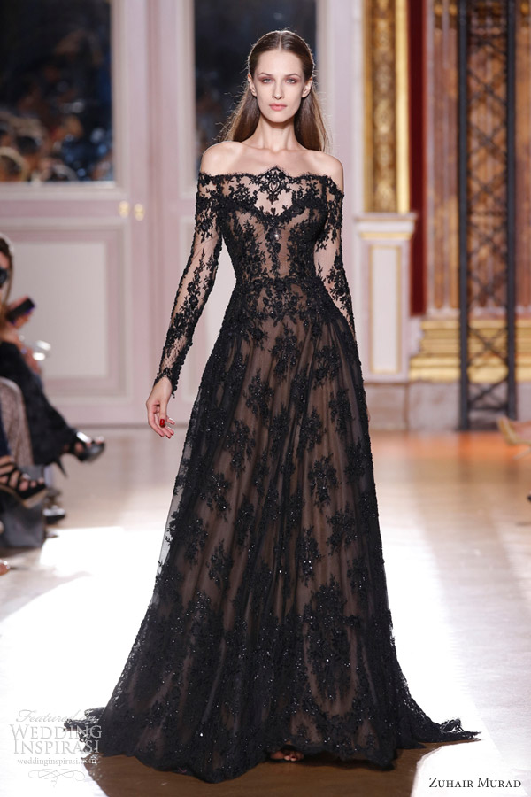 zuhair-murad-couture-fall-winter-2012-2013-black-lace-off-shoulder-gown