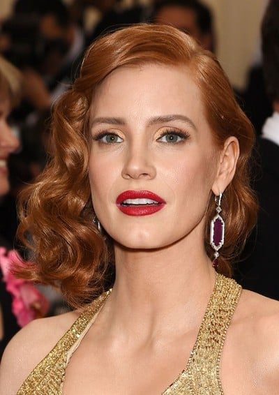 Jessica+Chastain+Makeup+Red+Lipstick+iXTRVL6Dpaal