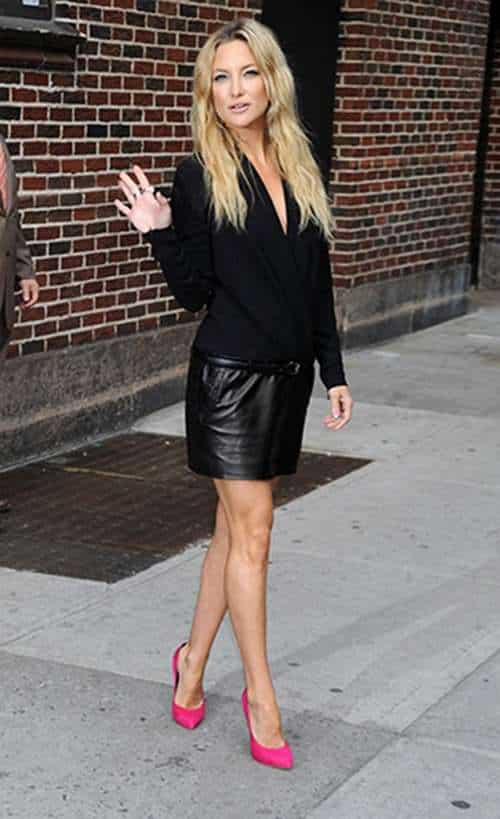 Simply-elegant-black-leather-skirt