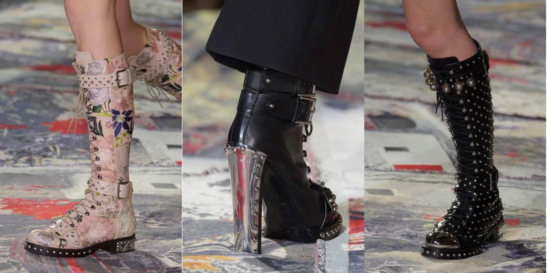 1a847fc0a06 Alexander McQueen παπούτσια άνοιξη/καλοκαίρι 2017. Παπούτσια Άνοιξη 2017:  Τα trends από το Fashion Week στο Παρίσι