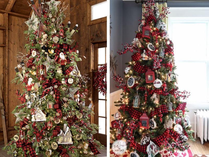Χριστουγεννιάτικα δέντρα στολισμένα 2018