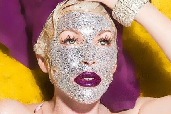 glitter μάσκα προσώπου